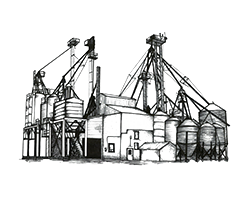 Feedmill location illustration